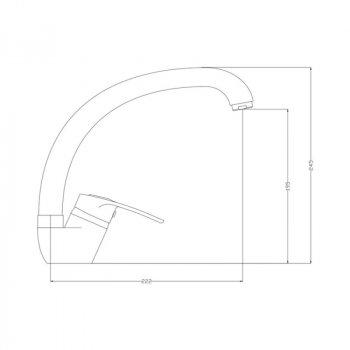 Змішувач Для Кухні Gf Italy (Crm)S-13-008F