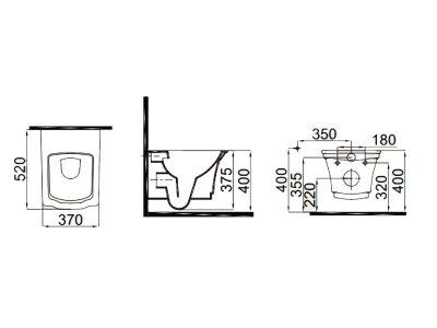 Чаша подвесного унитаза IDEVIT Neo Classic 3304-0616