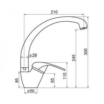 Змішувач для кухні GF (BLA)/S - 03-012F