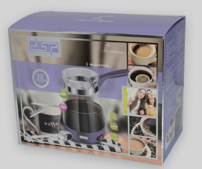Стеклянная турка электрическая DSP KA-3037 кофеварка электротурка 700 мл Фиолетовый