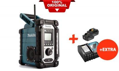 Акумуляторний радіоприймач Makita DMR107+2 акк.18V 5 Ah+швидкозарядний ЗУ (DMR107RT2)