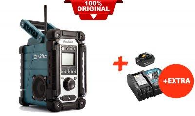 Акумуляторний радіоприймач Makita DMR107+акк.18V 5 Ah+швидкозарядний ЗУ (DMR107RT)