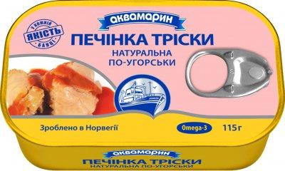 Печень трески Аквамарин по-венгерски 115 г (5901489999968)