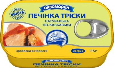 Печень трески Аквамарин по-кавказски 115 г (5901489999975)