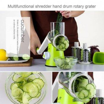 Овощерезка ручная Tabletop Drum Grater Kitchen Master. Ручная Терка-овощерезка (шинковка)