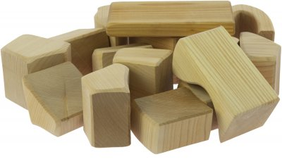 Конструктор Nic деревянный Большой натуральный 17 элементов (Nic523283)