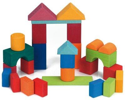 Конструктор Nic деревянный Цветной замок 27 элементов (Nic523292)