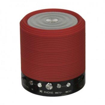 Портативна акумуляторна колонка WSTER WS-631 з bluetooth, радіо і підтримкою карт пам'яті Червона (11041)