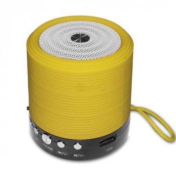 Портативная аккумуляторная колонка WSTER WS-631 с bluetooth, радио и поддержкой карт памяти Желтая (11042)