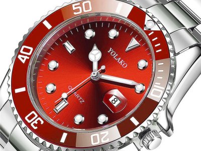 Часы Yolako Кварцевые мужские Красный (1007-062-03)