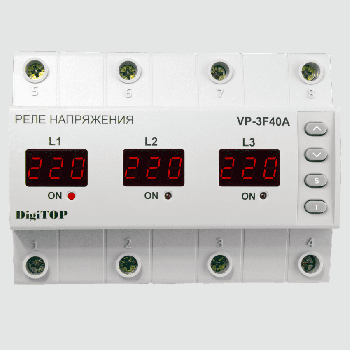 Реле напряжения DigiTOP VP-3F40A