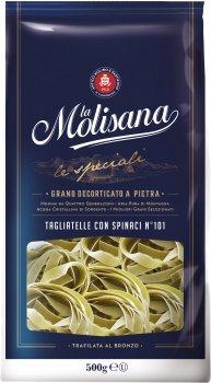 Макарони La Molisana Tagliatelle Con Spinaci №101 500 г (8004690101018)