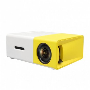 Портативный мини проектор LED Projector 1920 х 1080P GTM YG-300 Original White/Yellow