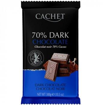Шоколад черный 70% какао CACHET 300г(00-00001254)