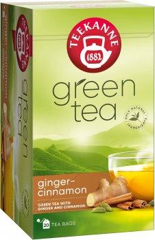 Чай зеленый пакетированный Teekanne с имбирем и корицей 20 пакетиков (4009300529095)