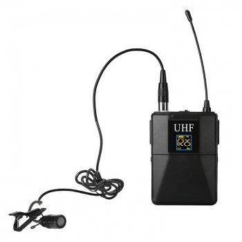 Петличний бездротовий мікрофон Alitek WM10 для телефону / планшета / камер + 2 перехідника (482240)