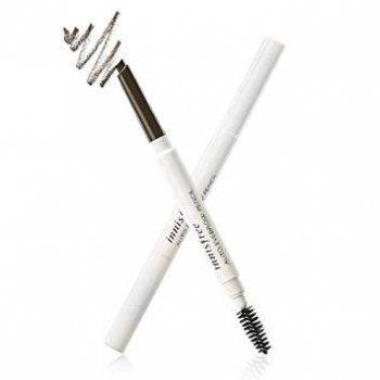 Автоматичний олівець для брів з щіточкою Innisfree Auto Eyebrow Pencil Espresso Brown коричневий