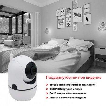 Беспроводная WiFi радионяня/видеоняня YCC365 камера видеонаблюдения с датчиком движения, ночным видением microSD Белая (355246458)