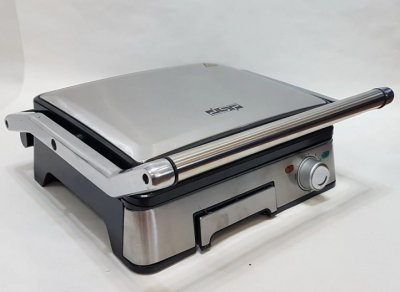 Гриль электрический Dsp kb-1045 профессиональный с контролем температуры 1800 Вт + сьемные пластины Серебристый (11074)