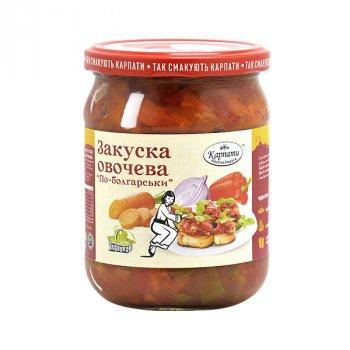 """Закуска овочева Карпати насолоджуйся """"по-болгарськи"""" 480 г"""