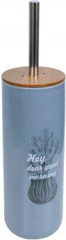 Ёршик для унитаза BISK Folio 05595 серо-голубой
