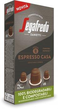 Кава у біорозкладаних капсулах Segafredo Espresso Casa Nespresso 10 шт. x 5.1 г (8003410248101)