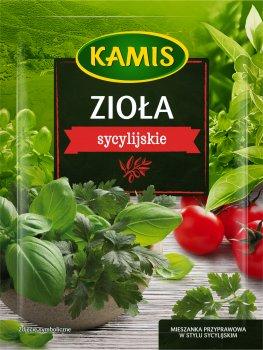 Упаковка приправи Kamis Трави сицилійської кухні 10 г х 4 шт. (5900084267175)