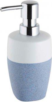 Дозатор для рідкого мила BISK Stone 06306 350 мл біло-блакитний
