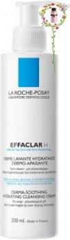 Крем для лица Очищающий крем-гель для жирной кожи La Roche-Posay Effaclar H Derma-Soothin г Hydratin г Cleansin г Cream 200 мл (3337875398961)