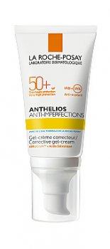 Крем для лица Солнцезащитный корректирующий гель-крем для жирной, проблемной и склонной к акне кожи лица SPF 50+ La Roche-Posay Anthelios Corrective гel-Cream SPF 50