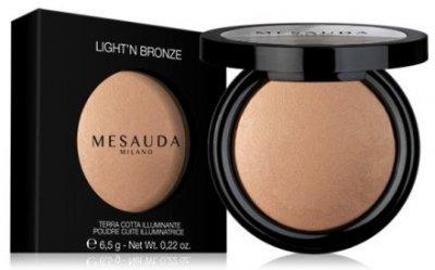 Пудра Бронзирующая запеченная пудра Mesauda Milano Light'n Bronze (в упаковке) 101 - Platinum (8057014293555)