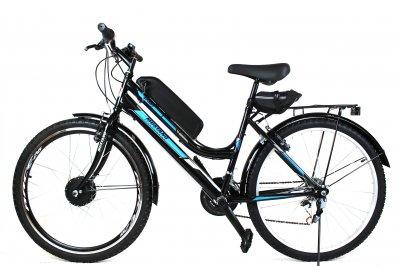 Электровелосипед Mustang Woman 26 колесо 36В 350Вт 13Ач литий ионный аккумулятор черный