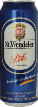 Упаковка пива St.Wendeler Pils светлое фильтрованное 4.6% 0.5 л.х 24 шт (4002631022679G)