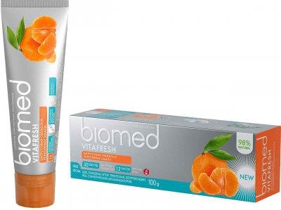 Упаковка зубной пасты BioMed Vitafresh 100 г х 2 шт (4601212312321)