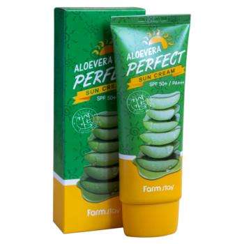 Солнцезащитный крем Farmstay Aloevera Perfect Sun Cream SPF50+ PA+++ с алоэ 70 мл