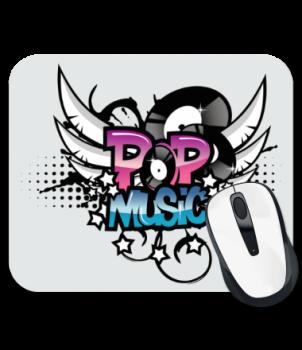 Коврик для мыши Pop music