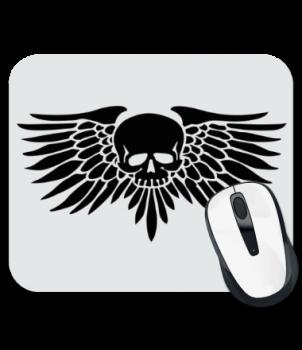 Коврик для мыши Череп с крыльями