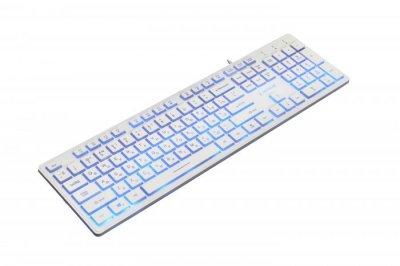 Клавіатура Gembird KB-UML3-01-W-RU, 3-х кольорова підсвітка клавіш, USB, White