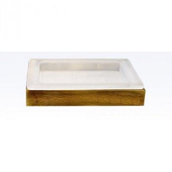 Мыльница со стеклом Atak серия Viya бронза A026