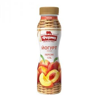 Йогурт персик 1,5% Ферма ПЕТ 250г