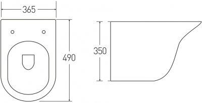 Унітаз підвісний VOLLE Avila Rimless 13-66-051 із сидінням Slim Soft Close