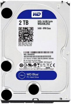 Жесткий диск Western Digital Blue 2TB 5400rpm 64MB WD20EZRZ 3.5 SATAIII