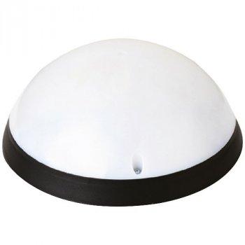 Світильник Teb Elektrik пластиковий Акуа Повний Місяць Опал LED 12W c датчиком руху чорний