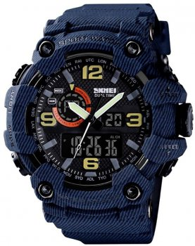 Мужские часы Skmei 1520BOXDBL Denim Blue BOX