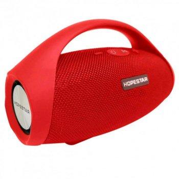 Портативна бездротова Вluetooth Колонка Hopestar H32 Червоний (10 Вт, USB, AUX) Сабвуфер, MP3, FM Радіо, Мікрофон, Функція Power Bank (47156)