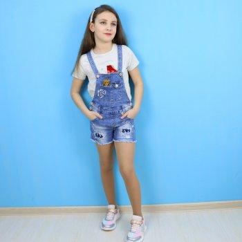 Джинсовий комбінезон для дівчинки S&D (076) Синій