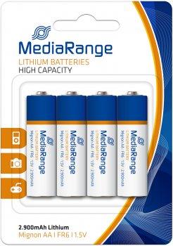 Литиевая батарейка MediaRange AA FR6 1.5 В 4 шт (MRBAT154)