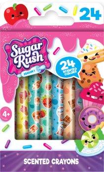 Набор ароматных восковых карандашей Scentos Sugar Rush Феерия Цветов 24 цвета (30008) (8463760300087)