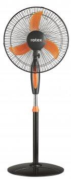 Вентилятор напольный Rotex RAF62-В 40Вт автоповорот подсветка угол наклона регулировка высоты 1,3м черный с оранжевым