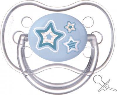 Пустушка Canpol Babies Newborn baby латексна кругла 6-18 місяців Блакитна (22/432 Блакитний)